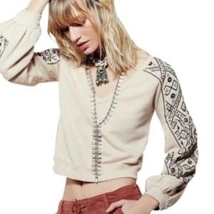 Free People Señorita Embellished Sweater